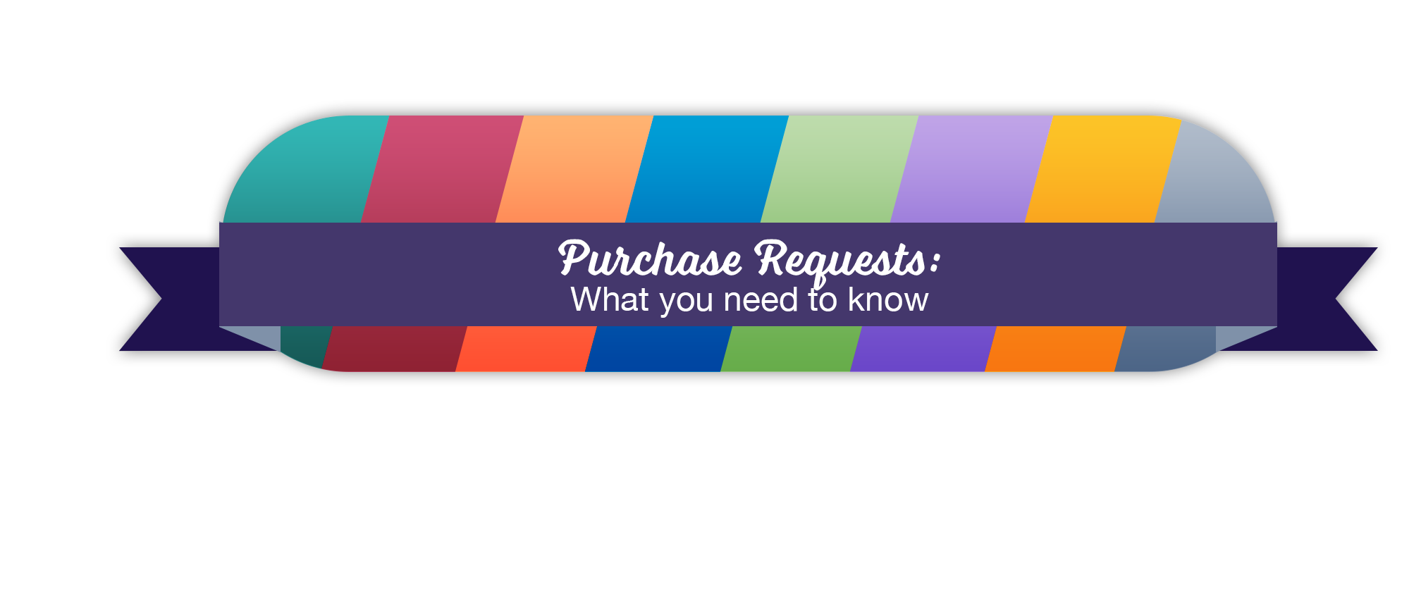 A Illustration with text: Purchase Requests: What you need to know