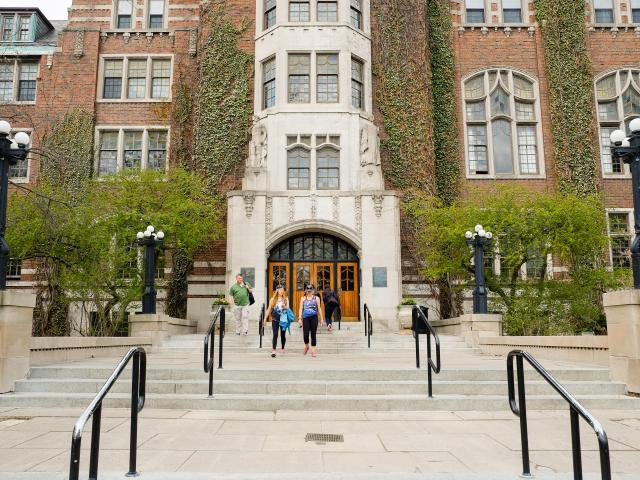 Front of Michigan Union building.